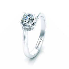 Ring setting with diamond (18)