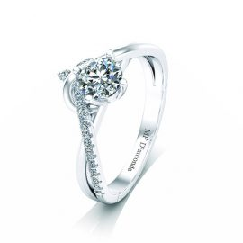 Ring setting with diamond (22)